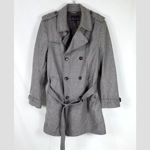 Banana Republic WOOL Belted Trench Coat MENS L